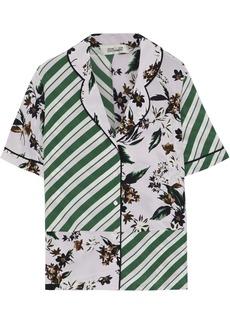 Diane Von Furstenberg Woman Iman Printed Silk Crepe De Chine Shirt Lilac
