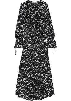 Diane Von Furstenberg Woman Imogen Gathered Floral-print Crepe De Chine Maxi Dress Black