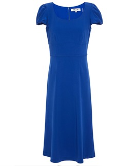 Diane Von Furstenberg Woman Ivanna Gathered Cady Midi Dress Cobalt Blue
