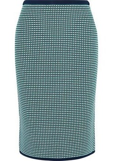 Diane Von Furstenberg Woman Jacquard-knit Pencil Skirt Green