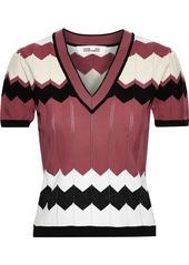 Diane Von Furstenberg Woman Janelle Crochet-knit Top Multicolor