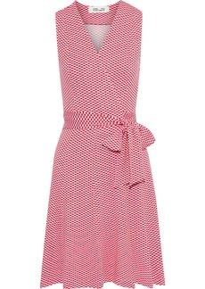 Diane Von Furstenberg Woman Jasmine Printed Stretch-jersey Wrap Dress Red