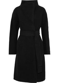 Diane Von Furstenberg Woman Jasper Belted Wool-felt Coat Black