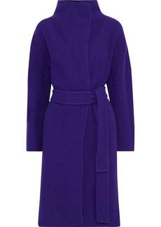 Diane Von Furstenberg Woman Jasper Belted Wool-felt Coat Purple
