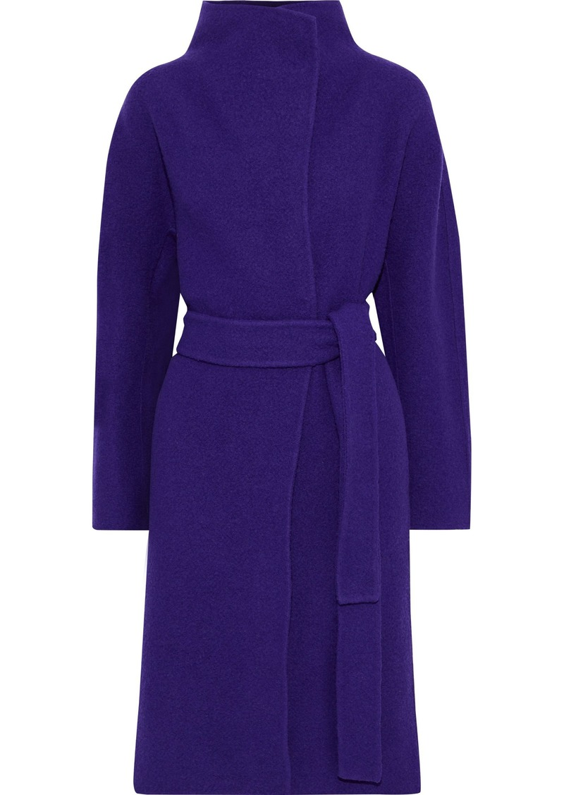 Diane Von Furstenberg Woman Jasper Belted Wool-felt Coat Purple