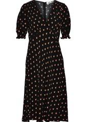 Diane Von Furstenberg Woman Jemma Printed Crepe Dress Black