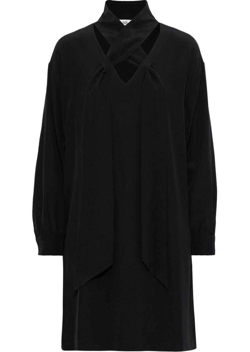 Diane Von Furstenberg Woman Jessamine Cutout Silk Mini Dress Black