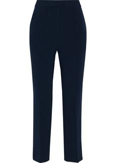 Diane Von Furstenberg Woman Cropped Stretch-crepe Straight-leg Pants Navy