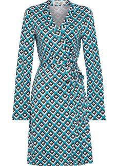 Diane Von Furstenberg Woman Julian Printed Silk-jersey Wrap Dress Turquoise