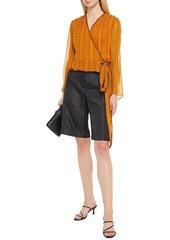 Diane Von Furstenberg Woman Julietta Printed Silk-georgette Wrap Blouse Orange