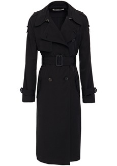 Diane Von Furstenberg Woman Kaia Woven Trench Coat Black