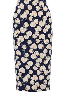 Diane Von Furstenberg Woman Kara Printed Cady Pencil Skirt Navy