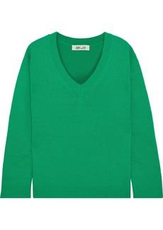 Diane Von Furstenberg Woman Kat Wool And Cashmere-blend Sweater Green