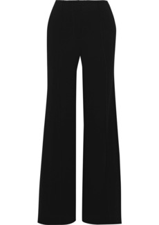 Diane Von Furstenberg Woman Kiersten Crepe Wide-leg Pants Black