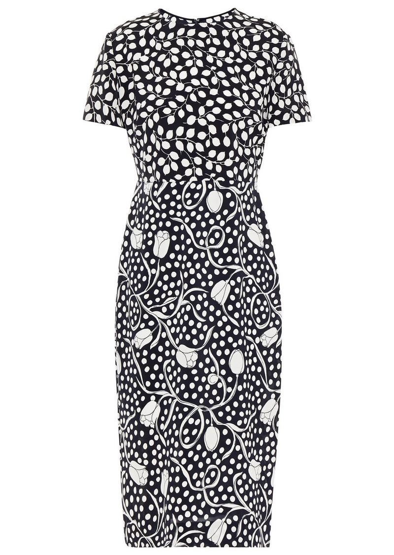 Diane Von Furstenberg Woman Langley Printed Cady Midi Dress Midnight Blue