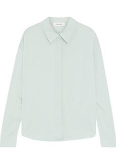 Diane Von Furstenberg Woman Leanna Stretch-silk Crepe De Chine Shirt Mint