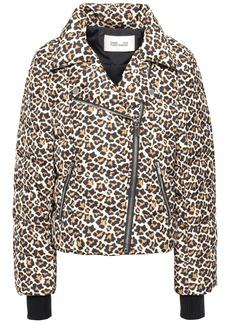 Diane Von Furstenberg Woman Leopard-print Quilted Shell Down Jacket Animal Print