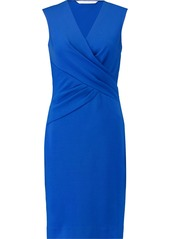 Diane Von Furstenberg Woman Leora Wrap-effect Stretch-crepe Dress Bright Blue