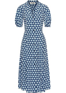 Diane Von Furstenberg Woman Lily Printed Silk Midi Dress Blue