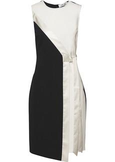 Diane Von Furstenberg Woman Lindsey Wrap-effect Satin-trimmed Ponte Dress Ivory