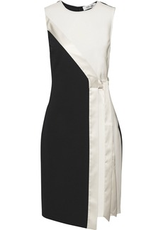 Diane Von Furstenberg Woman Lindsey Wrap-effect Satin-trimmed Ponte Dress Ivory