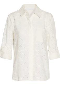 Diane Von Furstenberg Woman Lorelei Broderie Anglaise Cotton Shirt Ecru