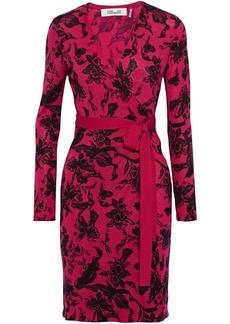 Diane Von Furstenberg Woman Luella Printed Merino Wool Wrap Dress Fuchsia