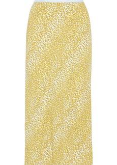 Diane Von Furstenberg Woman Printed Crepe Skirt Marigold
