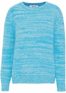 Diane Von Furstenberg Woman Marled Angora-blend Sweater Turquoise