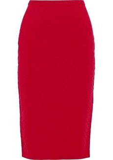 Diane Von Furstenberg Woman Matelassé Pencil Skirt Red