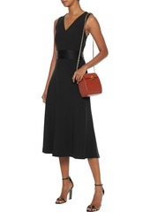 Diane Von Furstenberg Woman Maud Fluted Satin-crepe Midi Dress Black