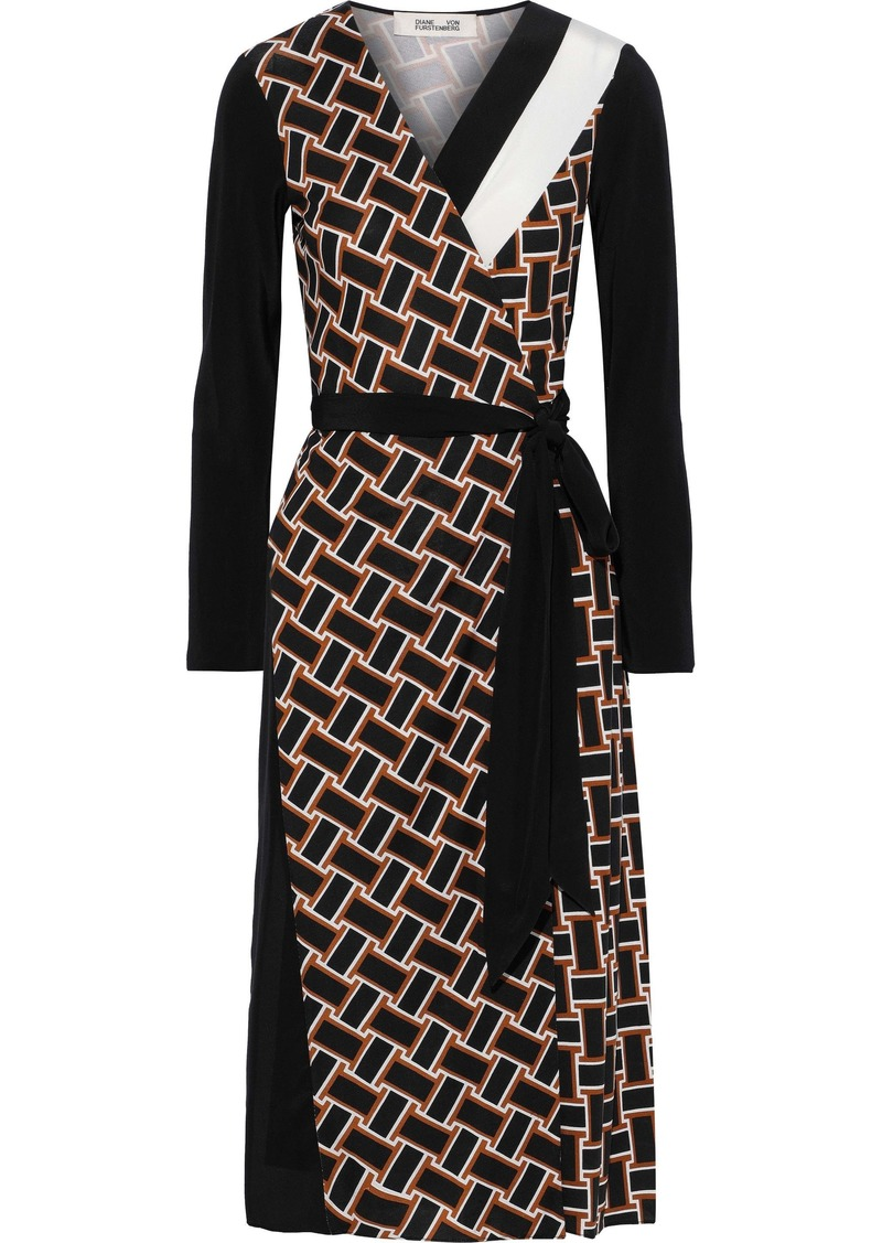 Diane Von Furstenberg Woman Maureen Printed Silk-jersey Wrap Dress Multicolor
