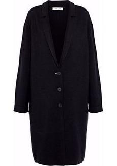 Diane Von Furstenberg Woman Merino Wool-blend Coat Black
