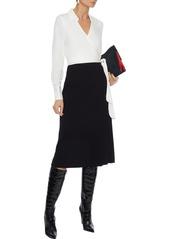 Diane Von Furstenberg Woman Mila Stretch-silk Crepe And Cady Wrap Dress White