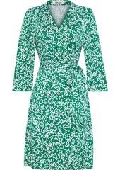 Diane Von Furstenberg Woman Miles Printed Silk-jersey Wrap Dress Jade