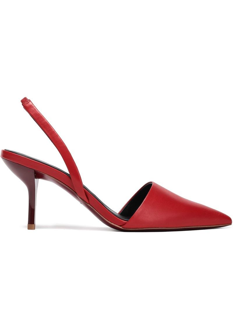 Diane Von Furstenberg Woman Mortelle Leather Slingback Pumps Crimson