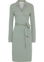 Diane Von Furstenberg Woman New Jeanne Printed Stretch-jersey Wrap Dress Multicolor