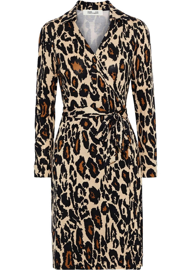 Diane Von Furstenberg Woman New Jeanne Two Printed Silk-jersey Wrap Dress Animal Print