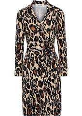 Diane Von Furstenberg Woman New Jeanne Two Printed Silk-jersey Wrap Dress Animal Print