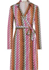 Diane Von Furstenberg Woman New Jeanne Two Printed Silk-jersey Wrap Dress Multicolor
