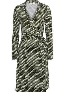 Diane Von Furstenberg Woman New Jeanne Two Printed Silk-jersey Wrap Dress Leaf Green