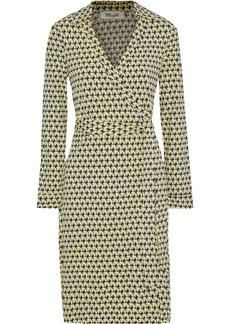 Diane Von Furstenberg Woman New Jeanne Two Printed Stretch-jersey Wrap Dress Yellow