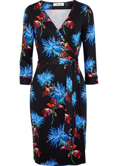 Diane Von Furstenberg Woman New Julian Two Printed Silk-jersey Wrap Dress Black
