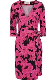 Diane Von Furstenberg Woman Printed Silk-jersey Wrap Dress Fuchsia