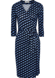 Diane Von Furstenberg Woman New Julian Two Printed Silk-jersey Wrap Dress Azure