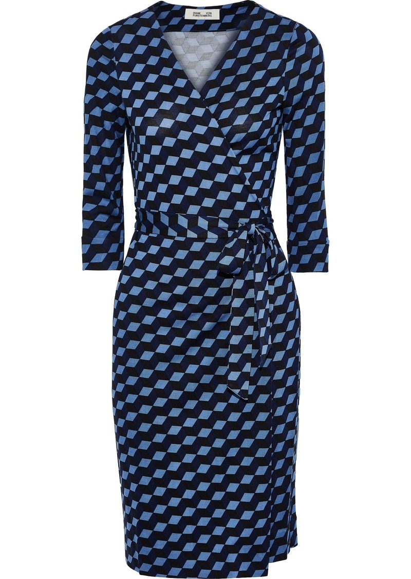 Diane Von Furstenberg Woman New Julian Floral-print Silk-jersey Wrap Dress Azure