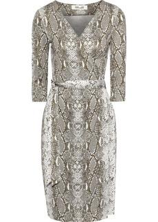 Diane Von Furstenberg Woman New Julian Two Printed Silk-jersey Wrap Dress Animal Print