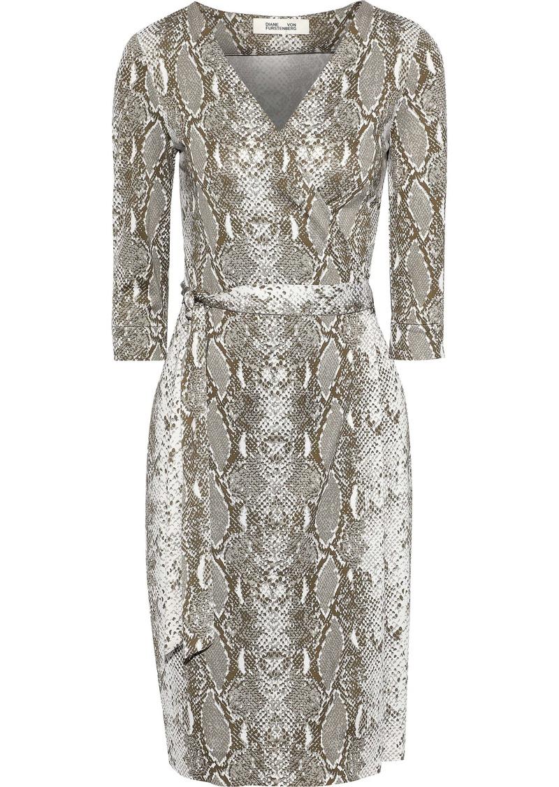 Diane Von Furstenberg Woman New Julian Floral-print Silk-jersey Wrap Dress Animal Print