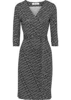 Diane Von Furstenberg Woman Printed Silk-jersey Wrap Dress Black