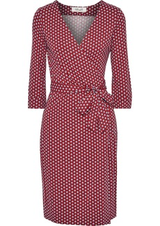 Diane Von Furstenberg Woman Printed Stretch-jersey Wrap Dress Red